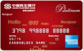 民生全币种白金信用卡